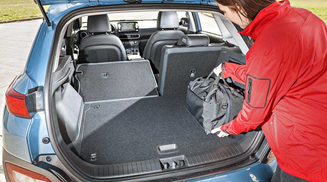 Hyundai Kona, Kofferraum