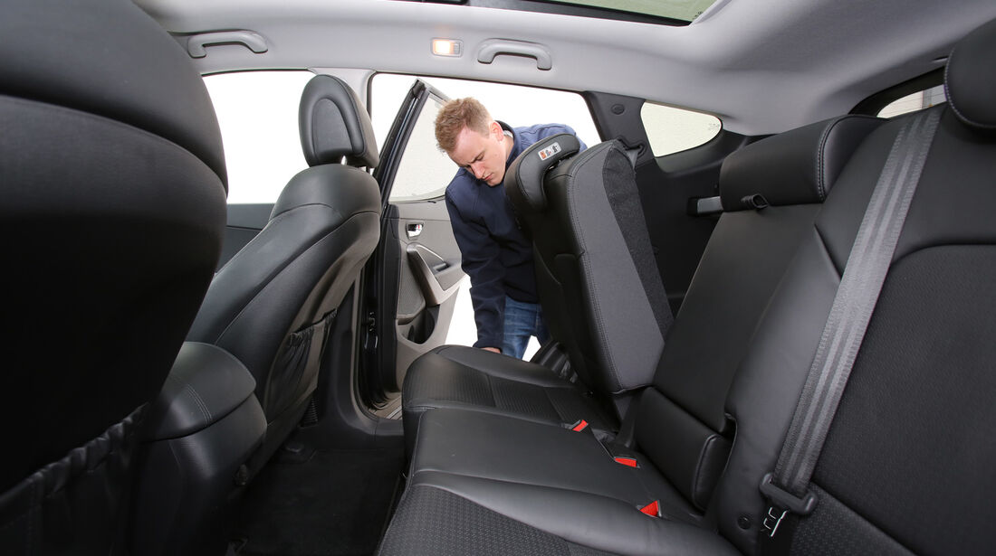Hyundai Santa Fe 2.2 CR Di 4WD, Rücksitz, Umklappen