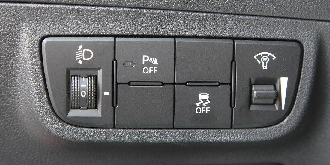 Hyundai Veloster Blue 1.6, Bedienelemente