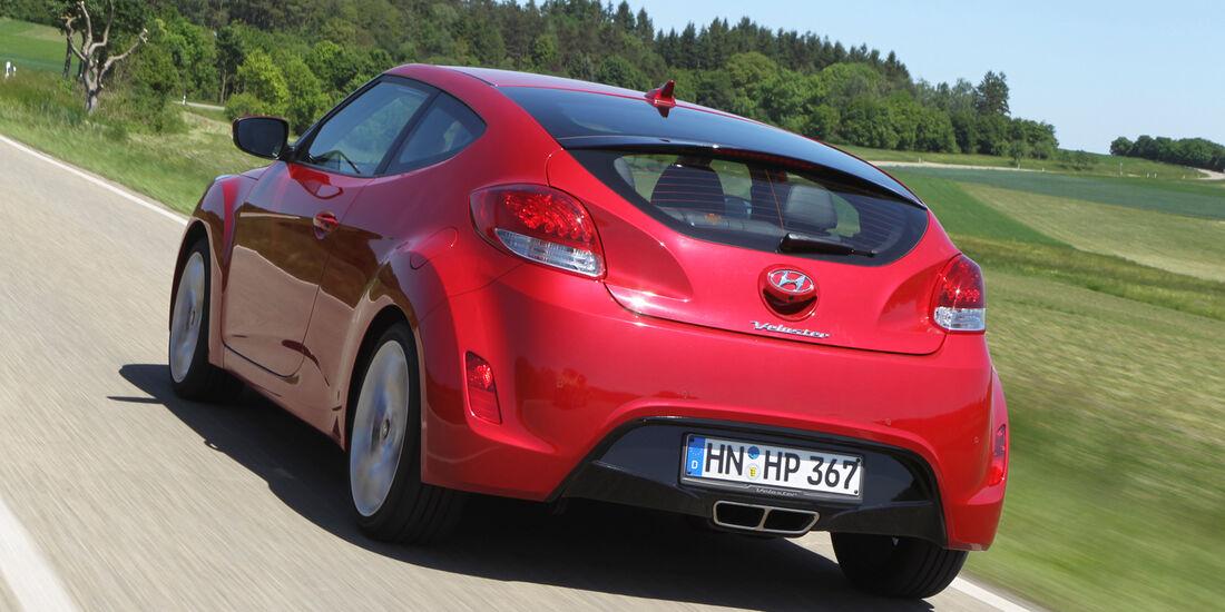 Hyundai Veloster Blue 1.6, Heckansicht