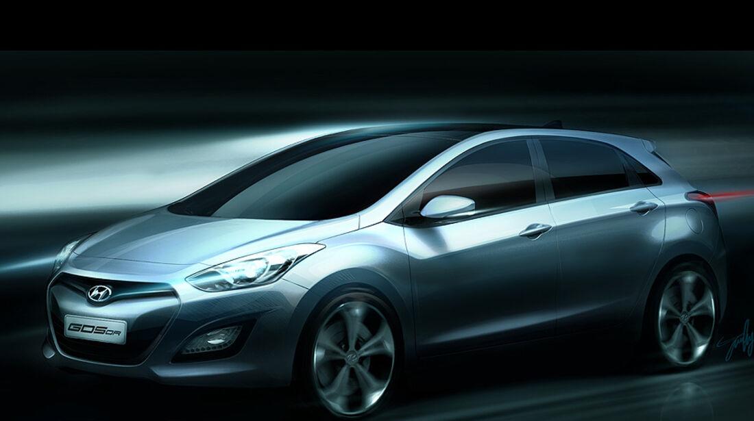 Hyundai i30 Zeichnung