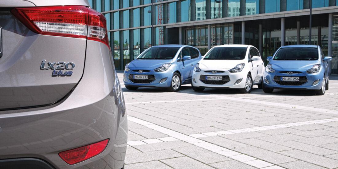 Hyundai ix20, Detail, Frontansicht