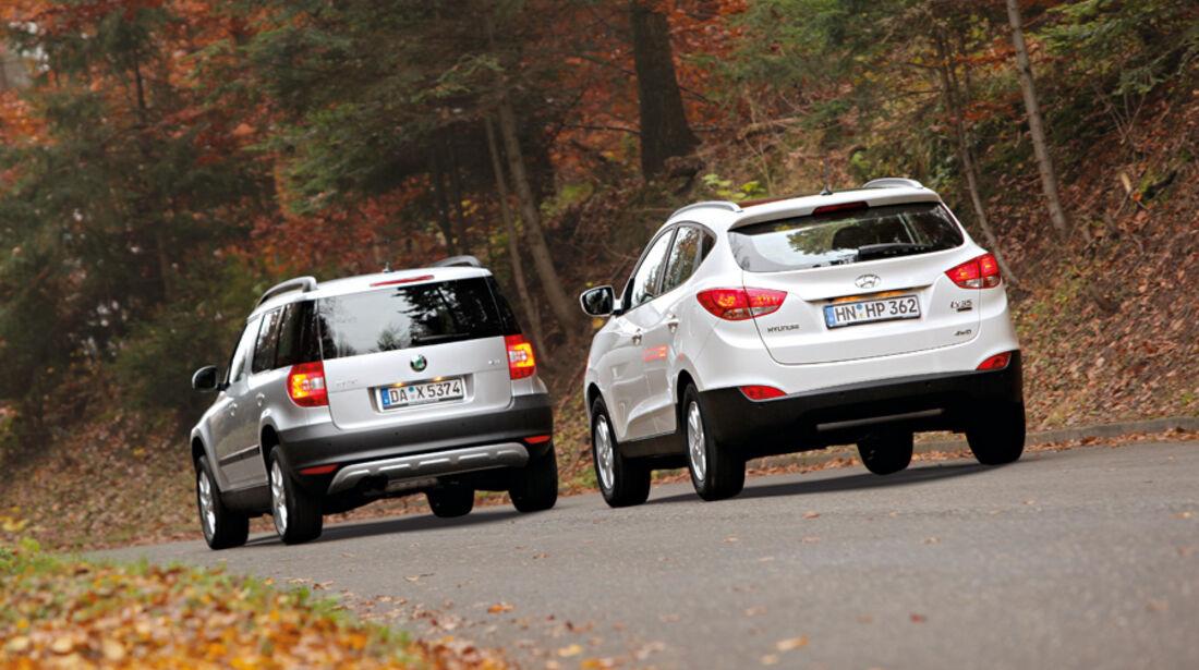 Hyundai ix35, Skoda Yeti 2.0 TDI 4x4