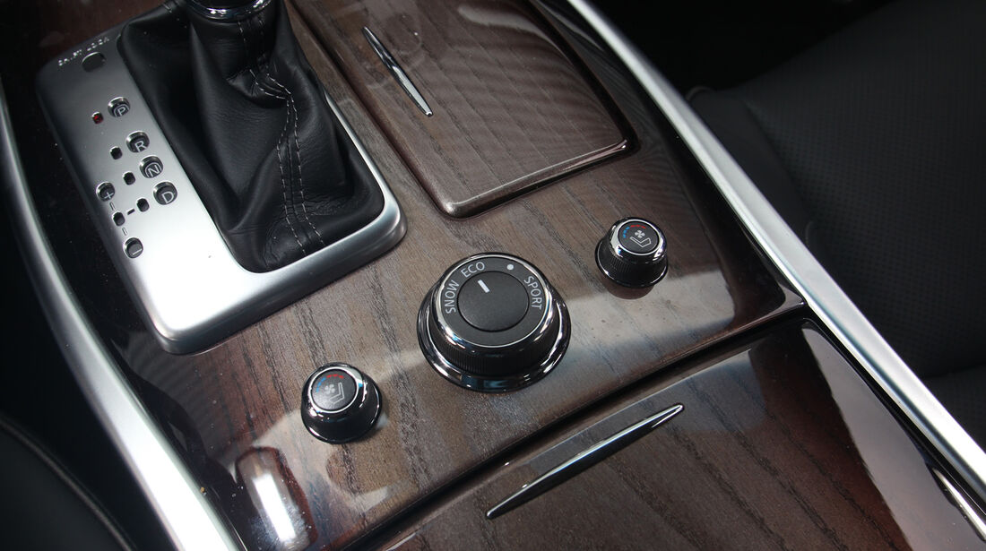Infiniti M35h GT Premium, Gangschaltung, Bedienelemente