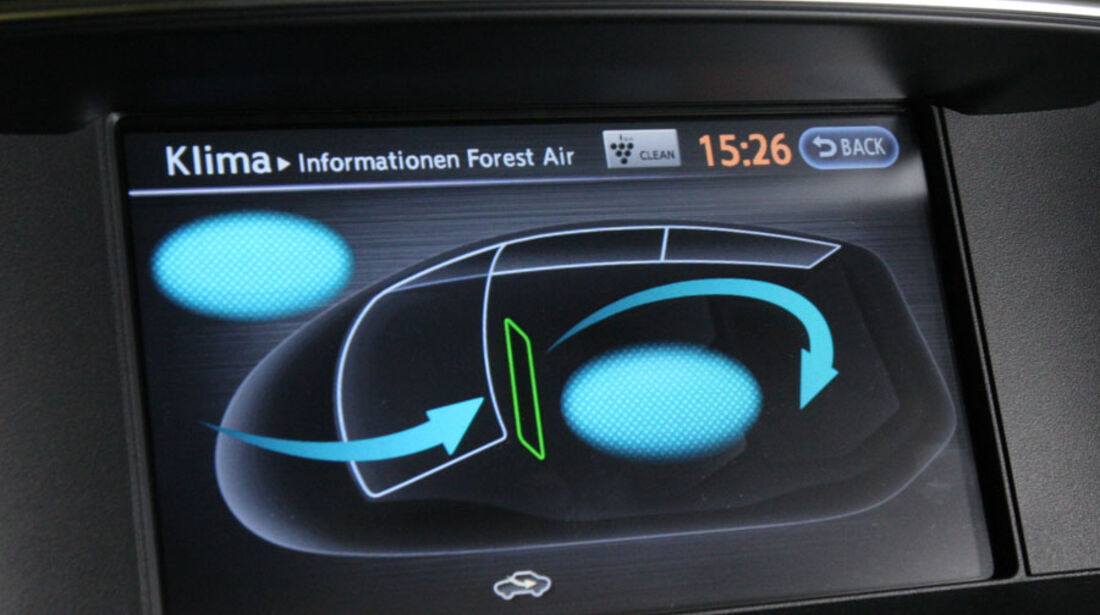 Infiniti M37 S, Klimaautomatik