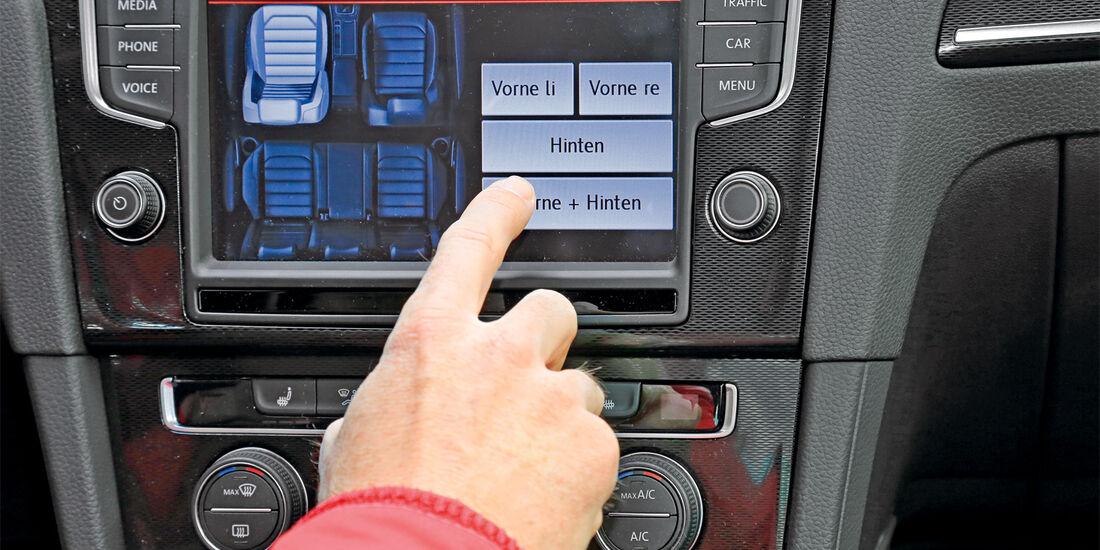 Infotainment, VW Golf, Klangabstimmung