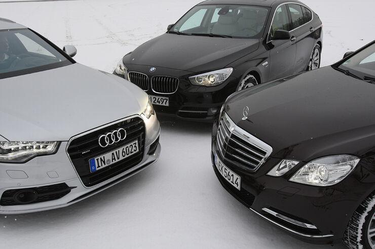 Infotainmentsysteme in Audi A6, BMW 5er GT, Mercedes E-Klasse
