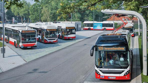 Innovationslinie Hochbahn Hamburg Pantograph