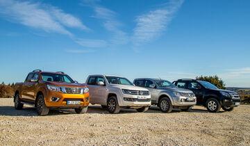 Isuzu D-Max, Mitsubishi L200, Nissan Navara, VW Amarok