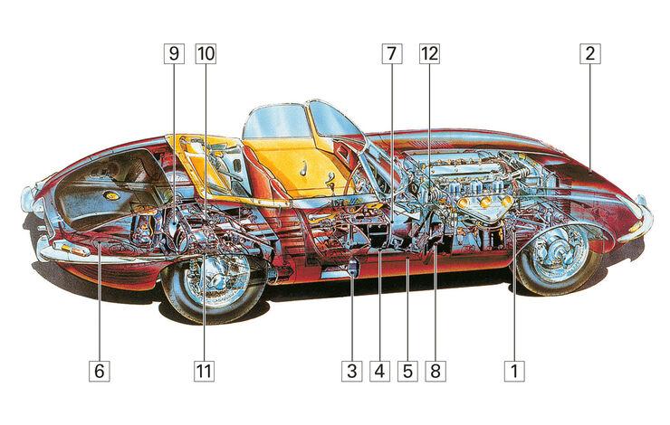 Jaguar E-Type S2, Schwachpunke, Igelbild