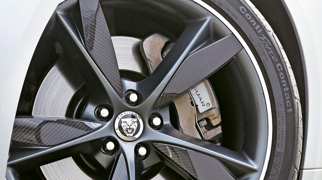 Jaguar F-Type, Rad, Felge, Bremse