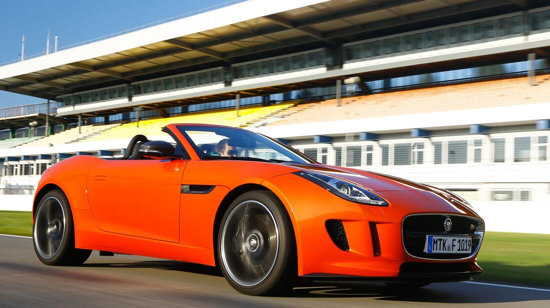 Jaguar F-Type S, Seitenansicht