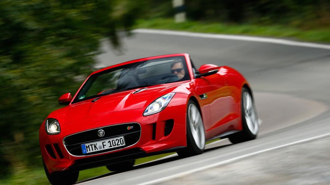 Jaguar F-Type V8 S, Frontansicht