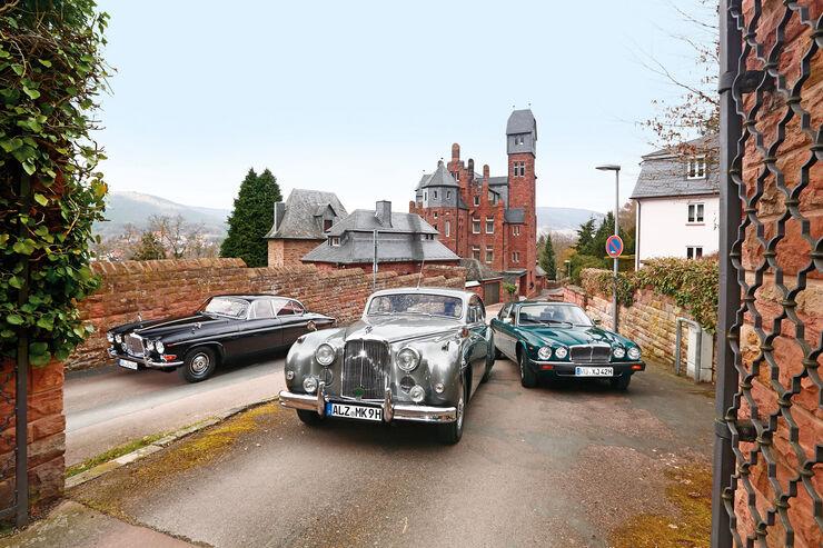 Jaguar MK IX, 420 G und XJ6 4.2, Frontansicht