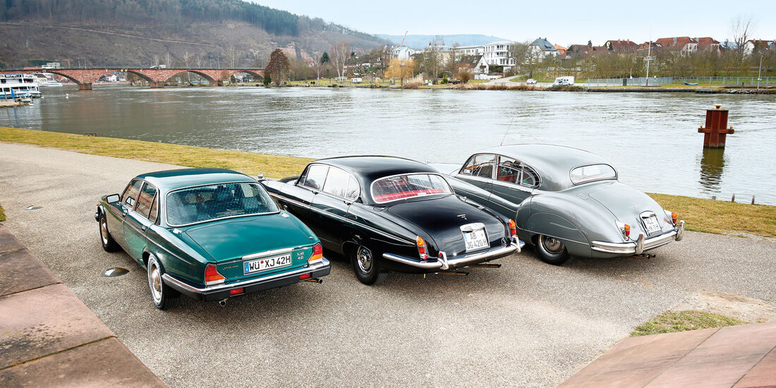 Jaguar MK IX, 420 G und XJ6 4.2, Heckansicht