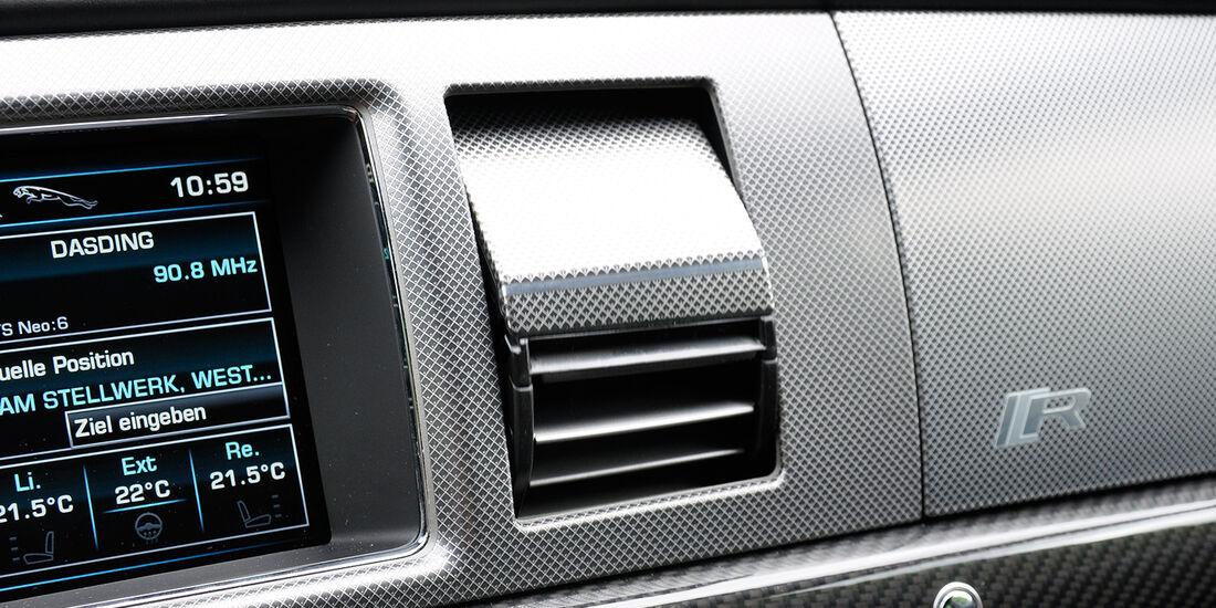 Jaguar XFR, Belüftungsdüsen