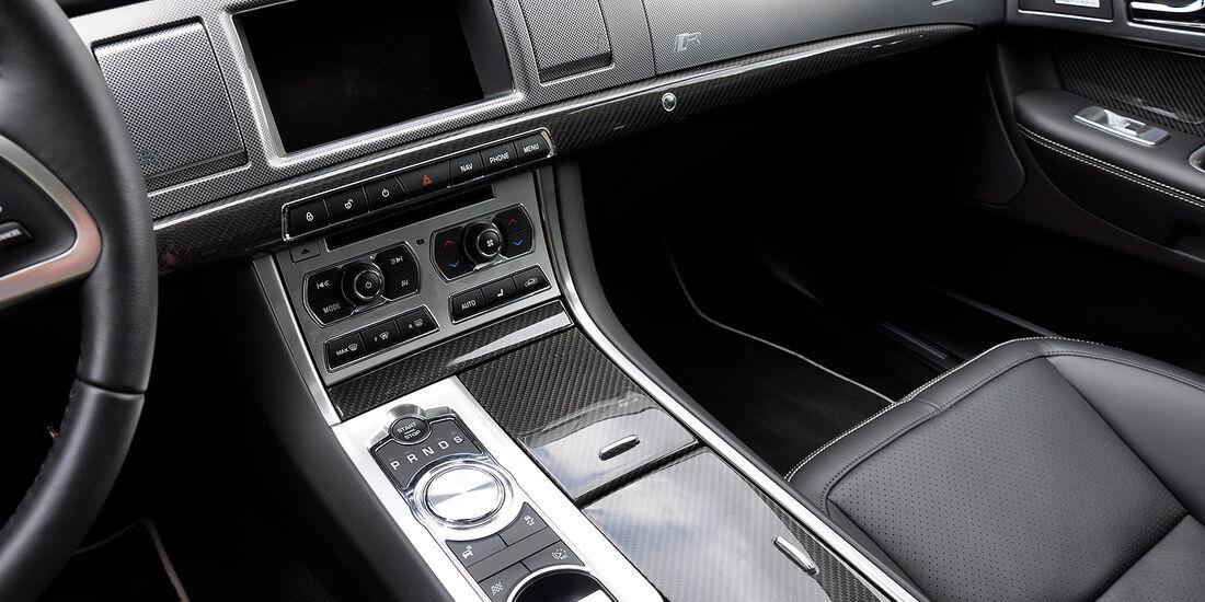 Jaguar XFR, Innenraum, Cockpit, Mittelkonsole