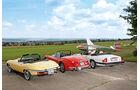 Jaguar XK 150, E-Type und XJ-S, Heckansicht