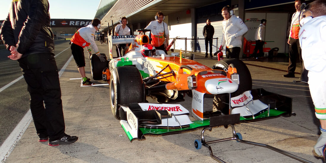 James Rossiter - Force India - Formel 1 - Test - Jerez - 7. Februar 2013