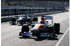 James Rossiter, Force India, Nico Rosberg, Mercedes GP, Formel 1-Test, Jerez, 7.2.2013