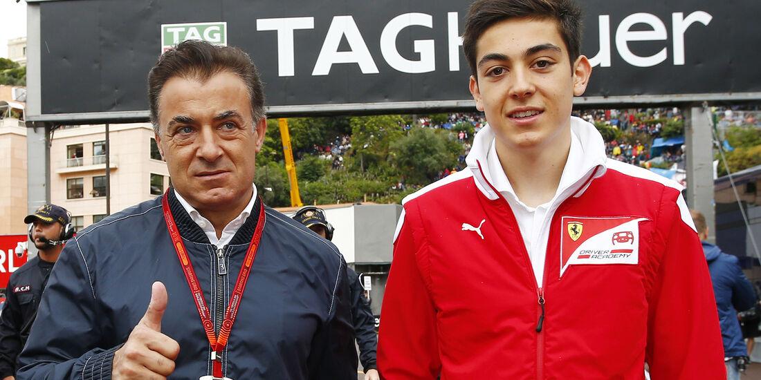 Jean Alesi & Giuliano Alesi - GP Monaco 2016
