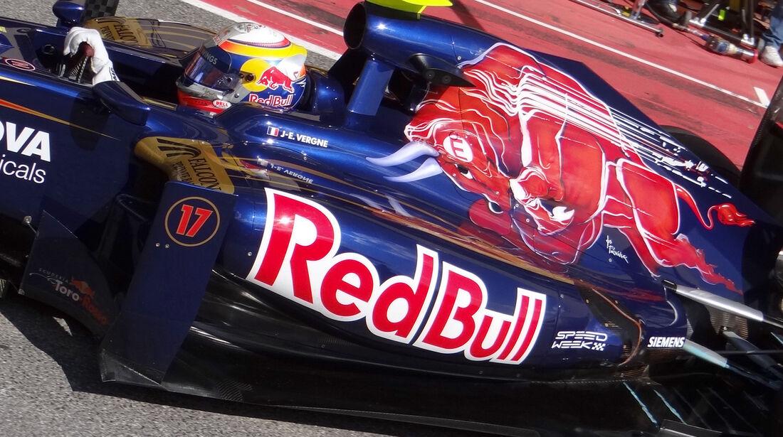 Jean Eric Vergne Toro Rosso Formel 1 Mugello Test 2012