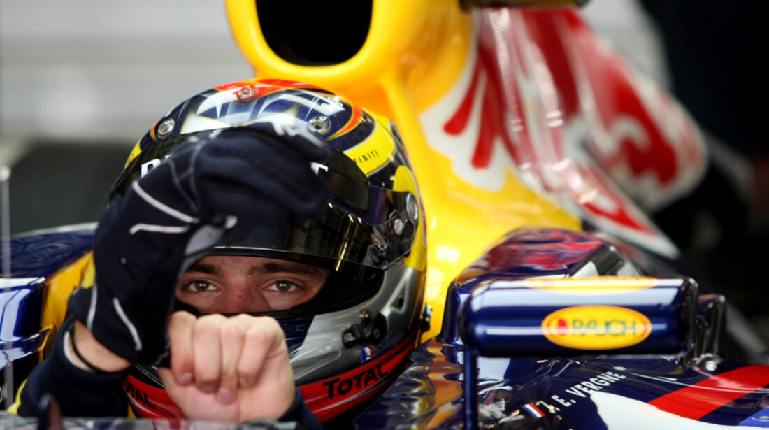Jean-Eric Vergne Young Driver Test Abu Dhabi 2011