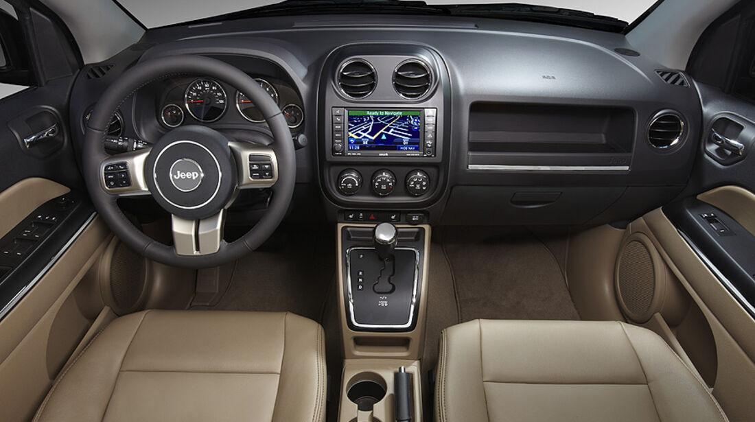 Jeep Compass Modelljahr 2011, Innenraum