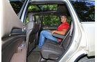 Jeep Grand Cherokee 3.0 CRD, Rücksitz, Beinfreiheit