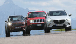 Jeep Renegade, Mazda CX-3, Mini Cooper Countryman