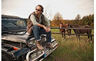 Jeep Wrangler, Motorhaube, Pferde