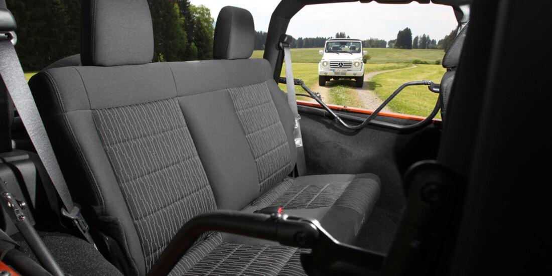 Jeep Wrangler,  Sitze, Fond