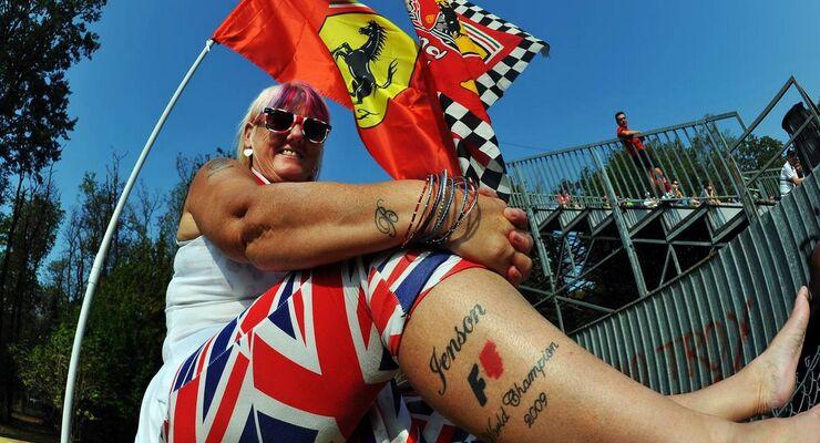 Jenson Button Fan - Formel 1 - GP Italien - 08. September 2012
