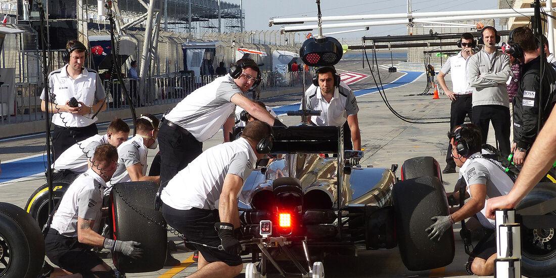 Jenson Button - McLaren - Formel 1 - Bahrain - Test - 21. Februar 2014