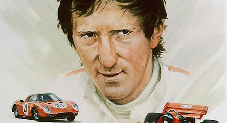 Jochen Rindt-Kunstdruck