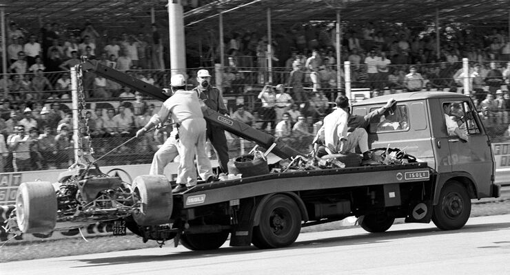 Jochen Rindt - Lotus 72 - Wrack - Monza 1970