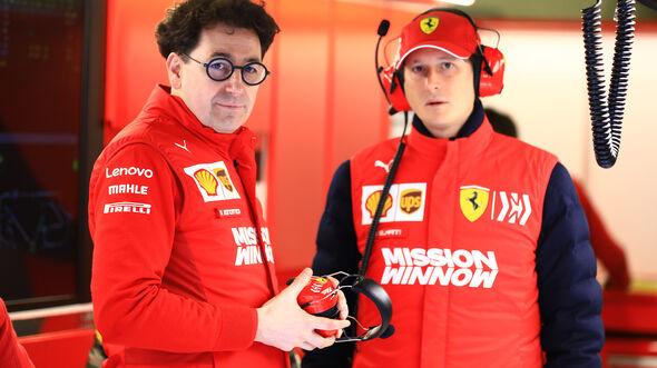 John Elkann & Mattia Binotto - Ferrari - Barcelona - F1-Test - 01. März 2019
