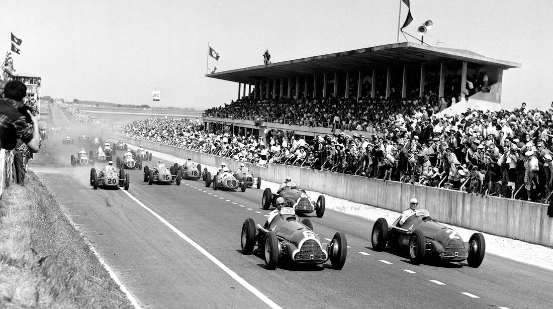 Juan Manuel Fangio - Alfa Romeo 158 - Start - GP Frankreich 1950 - Reims