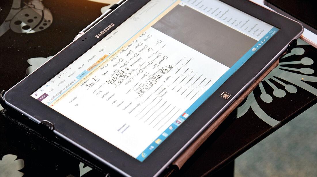 KFZ-Gutachter, Tablet-PC