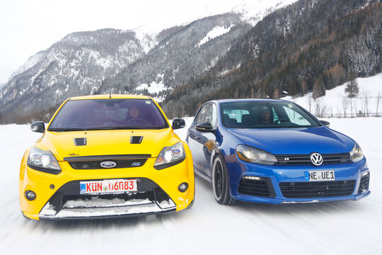 KL Racing-VW Golf R, Wolf-Ford Focus RS, Frontansicht