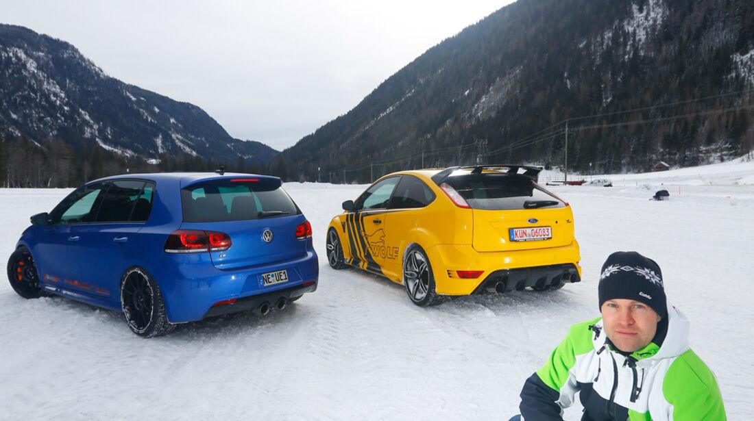 KL Racing-VW Golf R, Wolf-Ford Focus RS, Heckansicht