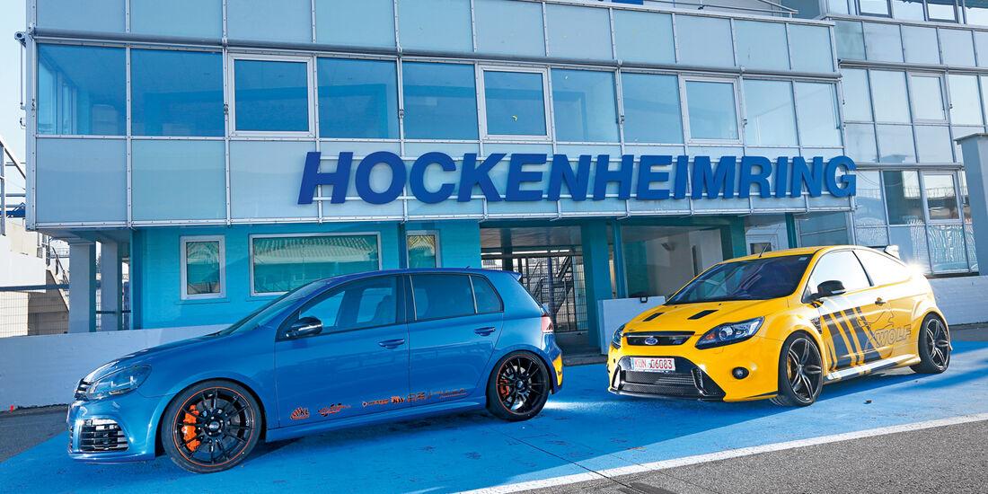 KL Racing-VW Golf R, Wolf-Ford Focus RS, Seitenansicht, Hockenheim