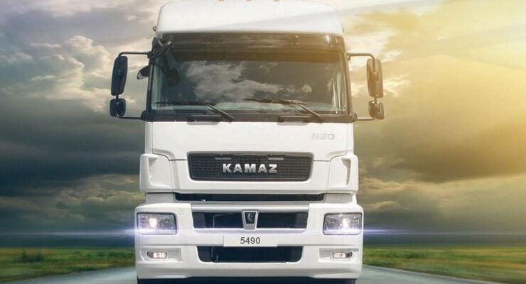 Kamaz automatisierter Lkw.