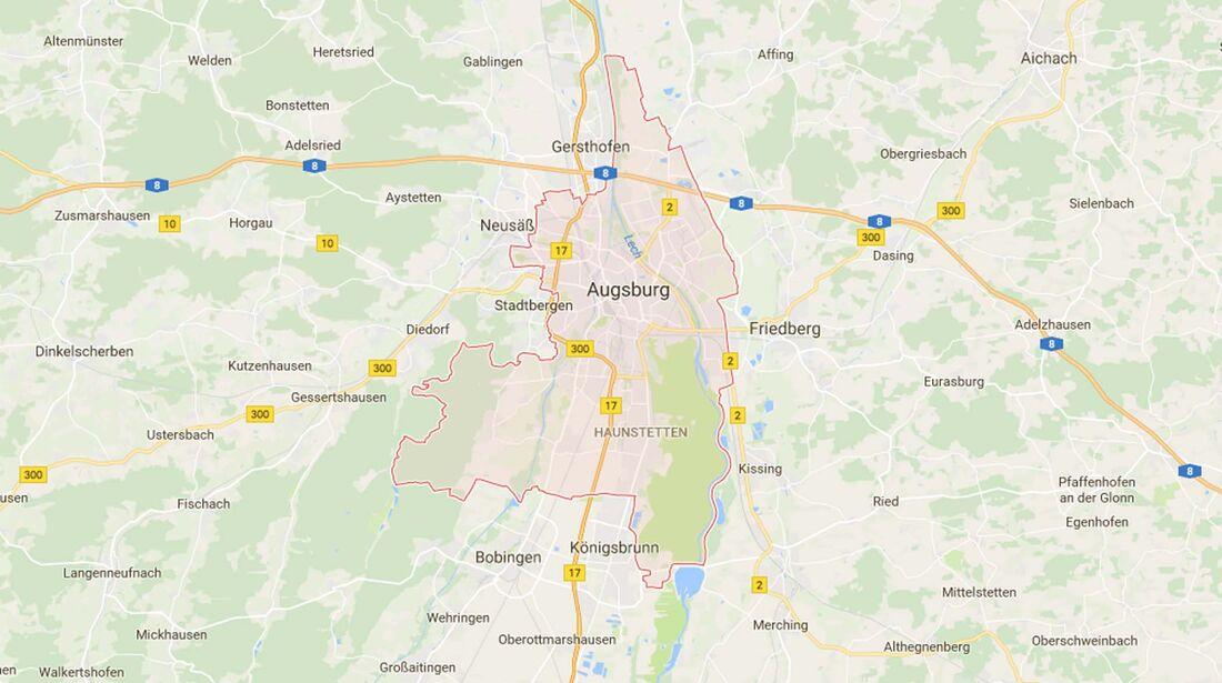 Karte Augsburg