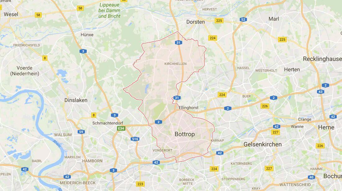 Karte Bottrop