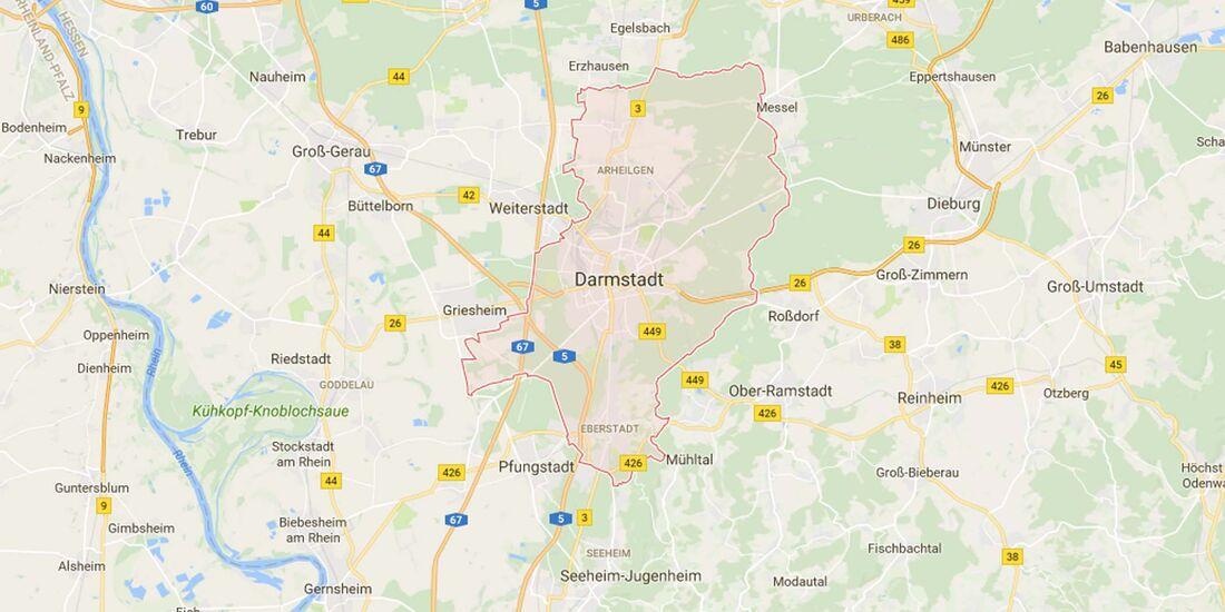 Karte Darmstadt