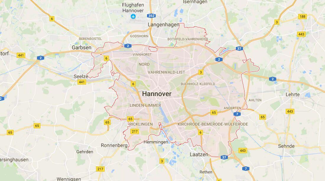 Karte Hannover