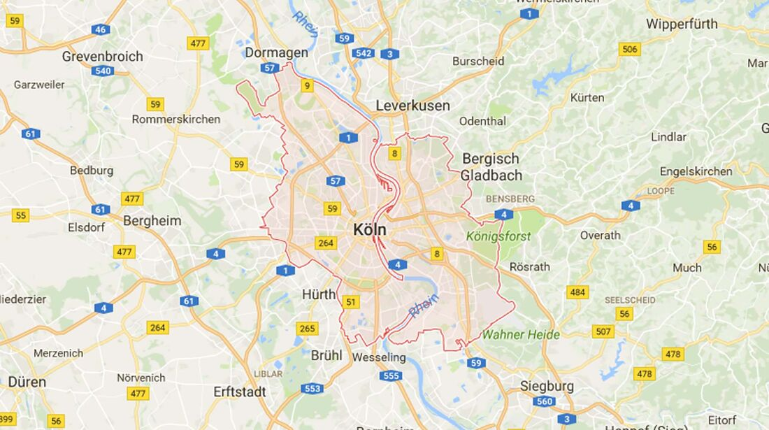 Karte Köln