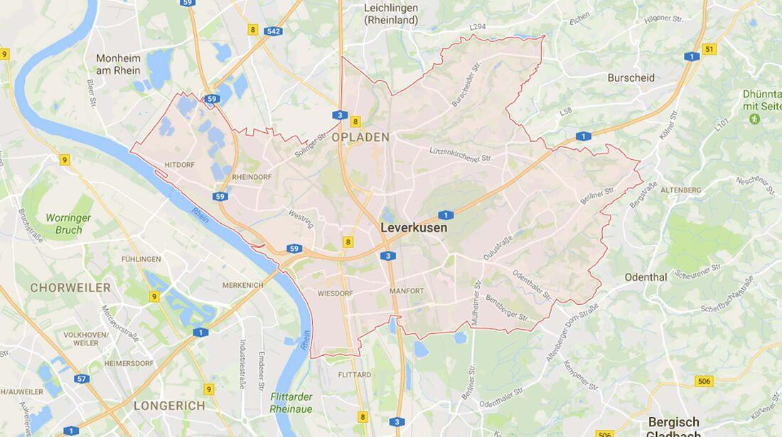 Karte Leverkusen