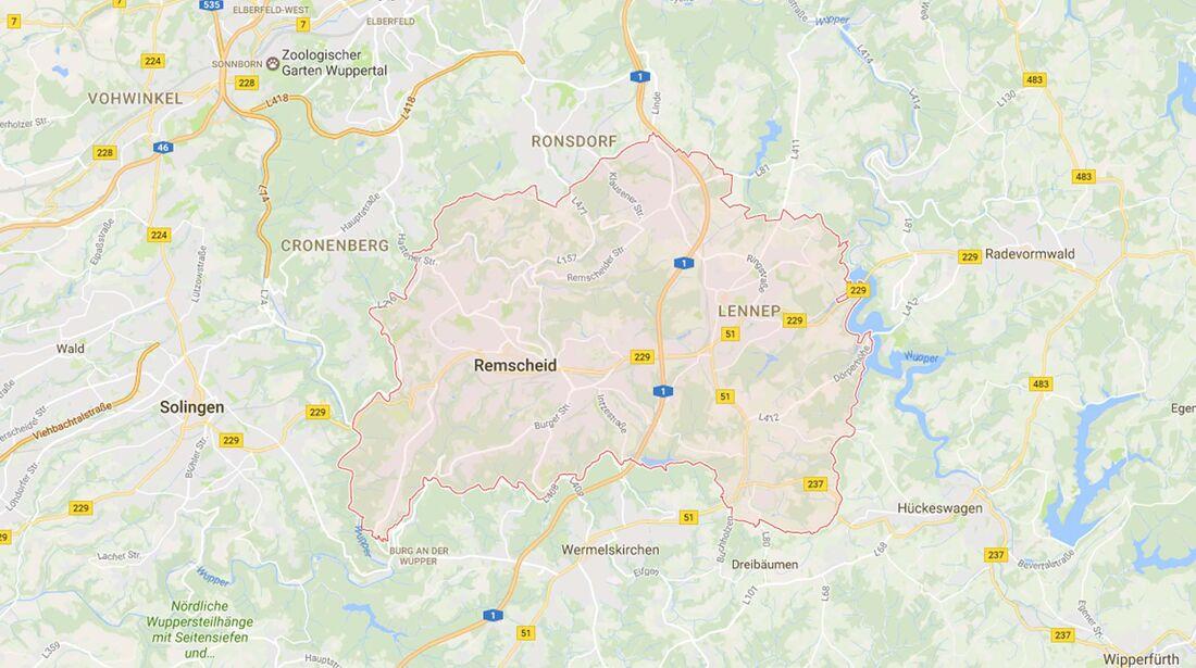 Karte Remscheid